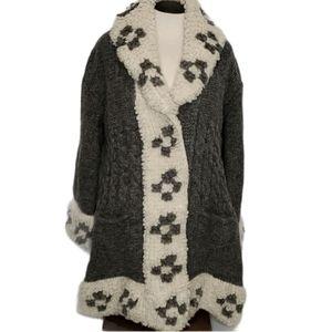 HANDKNIT Homemade Wool Sweater Coat
